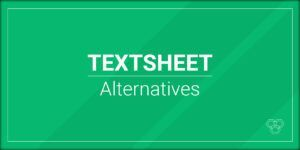 Alternativas a TextSheet.com en 2020