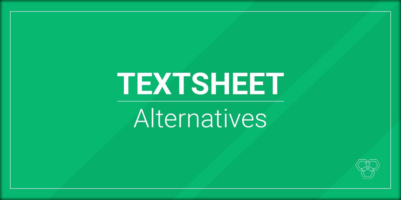 Alternativas a TextSheet.com en 2020